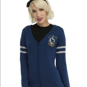 HARRY POTTER RAVENCLAW HOT TOPIC CARDIGAN SIZE S